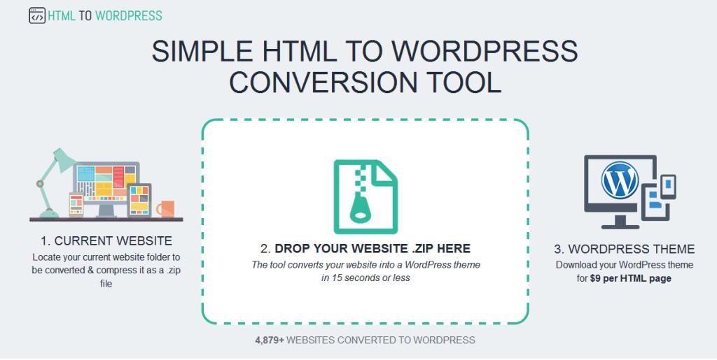 تحويل مواقع HTML إلى مواقع ووردبريس